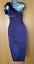 Karen-Millen-UK-10-Purple-Satin-Rose-Corsage-One-Shoulder-Wiggle-Cocktail-Dress thumbnail 7