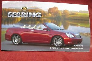 2008 chrysler sebring parts manual