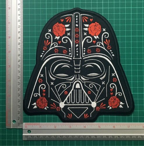 "Darth Vader Sugar Skull brodé Iron On Patch GALACTIC EMPIRE Star Wars 8/"""