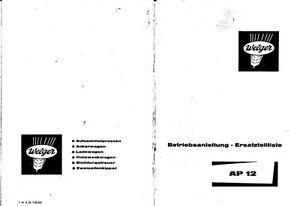 welger ap12 baler parts manual pdf file spare parts list catalogue rh ebay co uk Ryobi Surface Planer Parts TYR AP12