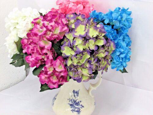 Large Heads Wedding Artificial Silk Hydrangea Posy Flower Home Decor