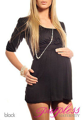 Casual Maternity Scoop Neck Top Tunic Pregnancy Wear Size 8 10 12 14 16 18 5006