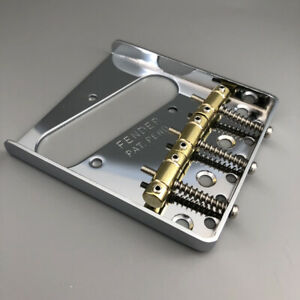 Vintage-Chrome-Guitar-Bridge-Brass-Saddle-For-Telecaster-Guitar