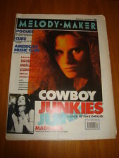 MELODY MAKER 1989 MARCH 25 COWBOY JUNKIES MADONNA POGUES CURE PAULA ABDUL