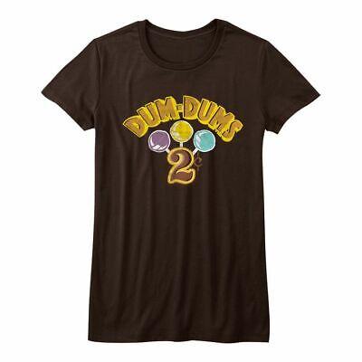 DUM DUMS Juniors Girls Kids Short Sleeve T-Shirt BROWN DUMDUM2C