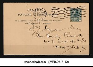 CANADA-1913-1c-KGV-POSTCARD-NEW-YORK-USA