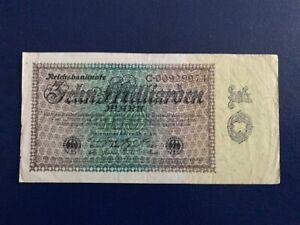 GERMANY-10-BILLION-MARK-1923-VERY-FINE