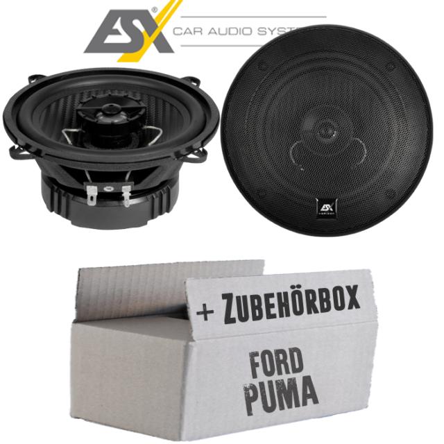 Ford Puma avant - Haut-Parleur Boxe ESX - 13cm Coaxial Voiture Set de Montage -