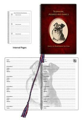 Miniature Schnauzer Dog A5 Black Soft Touch Note Book Journal Vet Mothers Gift