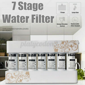 US 7 Stage Water Purifier Drinking System Filtration Filter Kitchen Faucet Home
