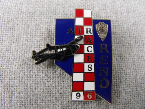 RENO AIR RACES LAPEL PIN BADGE 1978-2012 AVIATION AIRPLANE NEVADA NV