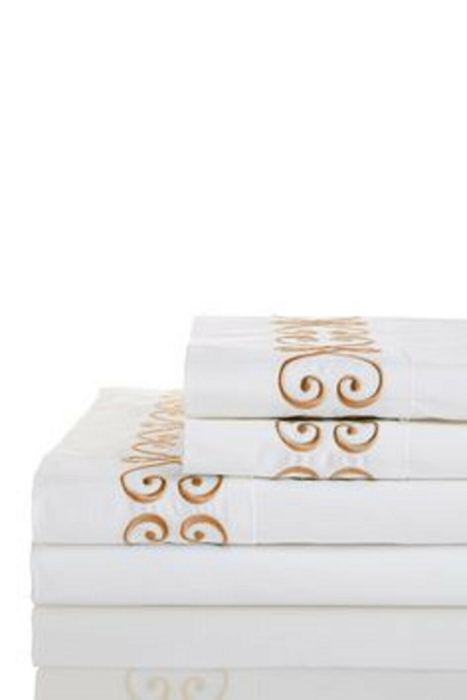 Westport Home 300Thread Count Egyptian Cotton Percale King Sheet Set