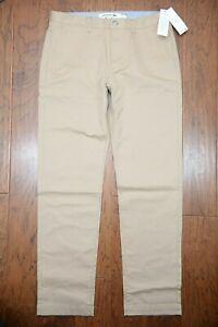 Lacoste Hh8811 Para Hombre Calce Regular Pantalones Tipo Chino De Algodon Elastico Beige W33 L34 Eu 42 Ebay