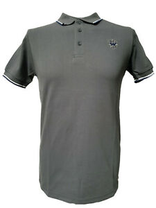 Warrior-UK-England-Pique-Polo-Shirt-Grey-Slim-Fit-Skinhead-Mod-Punk-Shirt-Grey