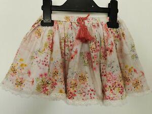 Baby Girls Cream & Pink Floral Skirt Next Age 12-18 Months Very Pretty