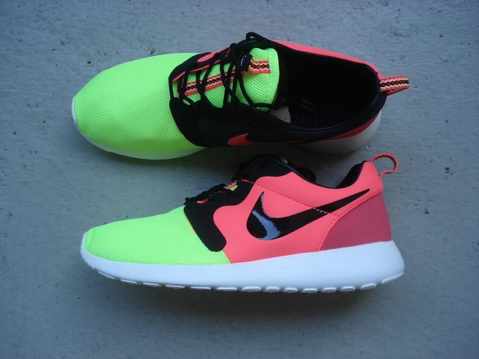 Nike Air Roshe Run HYP Premium QS 44 Volt Black-Hyper Punch