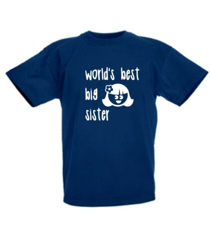 WORLD/'S BEST BIG SISTER NOVELTY KIDS TSHIRT PERFECT SURPRISE PRESENT GIFT