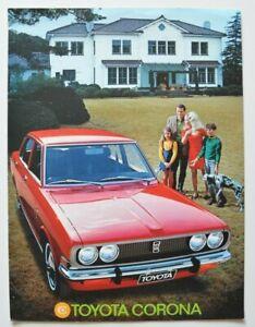 TOYOTA-CORONA-1971-dealer-brochure-catalog-French-Canada