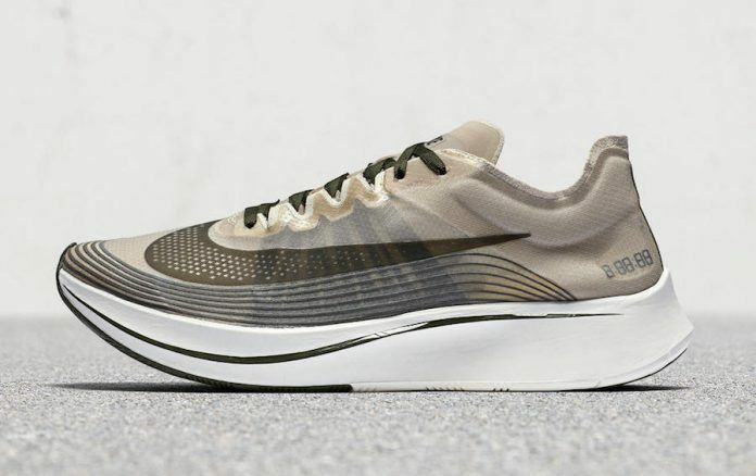 Nike nikelab zoom fly sp shanghai dimensione oscura loden, stucco aa3172-300 air max