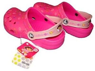 NWT CROCS Ralen Girls Clogs Pink//Fuchsia SIZES 1 /& 3