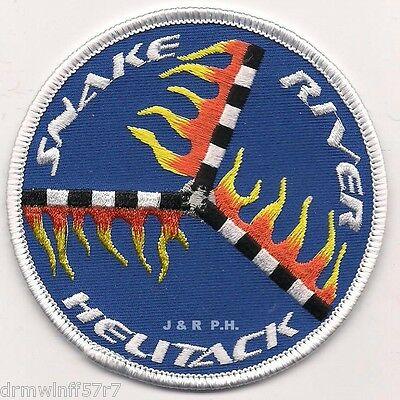 "Wildland - Snake River Helitack, ID (3.5"" round size) fire patch"