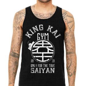 King-Kai-Gym-Tank-Top-amp-T-shirt-Dragon-Ball-Z-Workout-Men-Training-Goku-DBZ