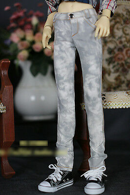 1/3 BJD 70cm Luts SSDF male doll outfit light grey patch bleached jeans ship US