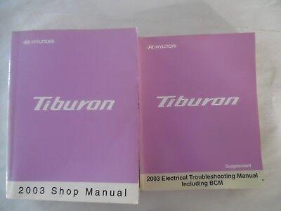 2003 Hyundai Tiburon Service Repair Manual Includes Wiring Diagram Manual Ebay