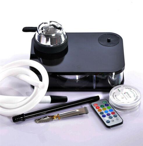 Modern Acrylic Hookah Shisha Nargile Smoking Water Pipe Set With LED Light