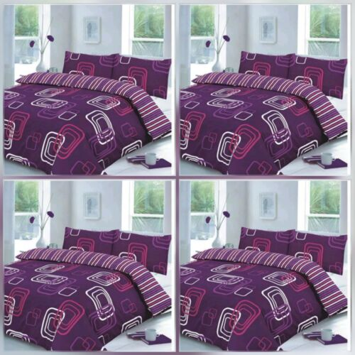LUSCIOUS BLAKE SQUARE BOX PRINTED POLLY//COTTON ATTRACTIVE DUVET QUILT COVER SET