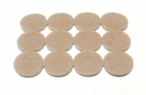 Lot-de-10-Bandes-de-12-Rond-Feutre-Coussinets-Adhesif-25Mm-Diametre-4Mm-Epais
