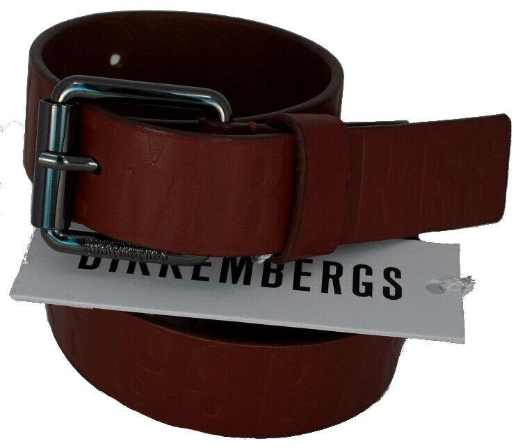 Herren Gürtel Leder BIKKEMBERGS Gürtel Mann Leather Geprägte DB H.3 D1818 Cognac