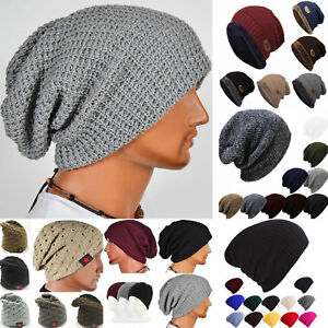a530804df75 Men Women Hip-Hop Warm Winter Cotton Knit Ski Beanie Skull Cap ...