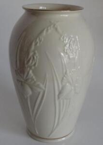 Lenox Vase Flower Design Gold Trim 8 1 2 Tall Usa Ebay