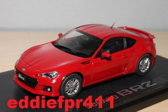 1 43 2012 SUBARU BRZ COUPE IN LIGHTNING RED BY EBBRO RARE JDM DIECAST MODEL CAR