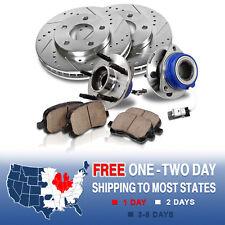 Front Brake Rotors and Hub Bearings & Pads RENDEZVOUS PONTIAC AZTEK 2WD ABS
