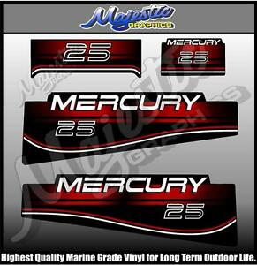 Details about MERCURY - 25 hp - DECAL SET - OUTBOARD DECALS