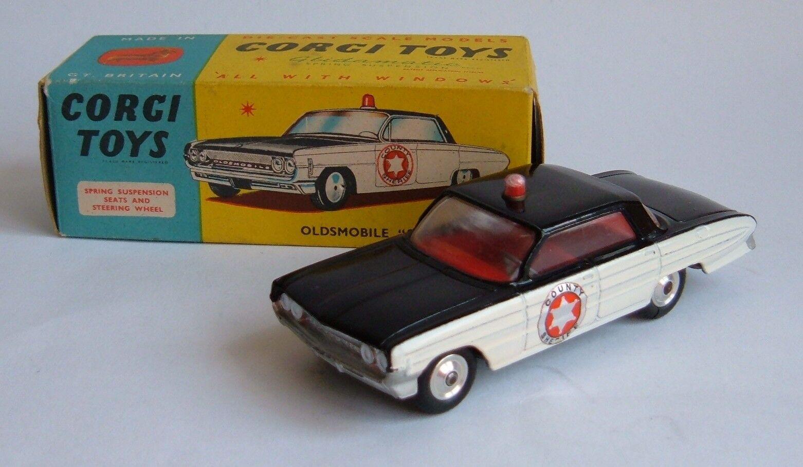 Corgi Toys No. 237, Oldsmobile 'Sheriff' Car, - Superb Mint.