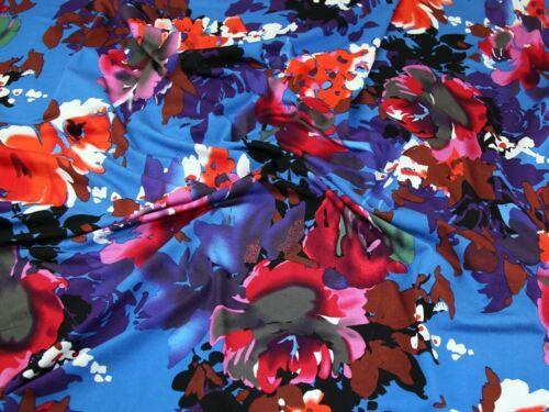 Sold Per Metre Floral Viscose Stretch Jersey Dress Fabric