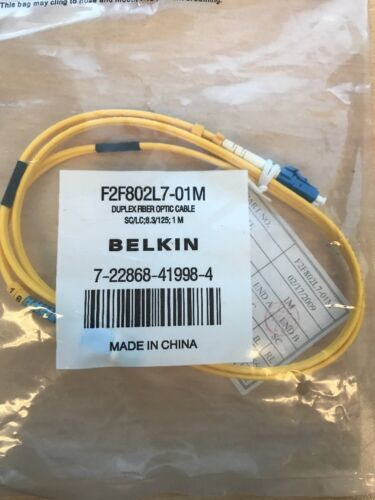 Belkin 1m STST Optic Fibre Cable 62.5125 Duplex Lead