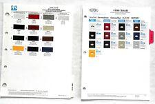 1998 SUBARU DUPONT AND PPG   COLOR PAINT CHIP CHARTS ALL MODELS ORIGINAL