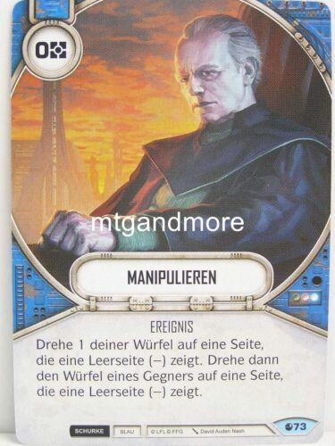Star Wars Destiny Geist der Rebellion 3x #073 Manipulieren