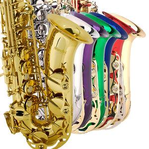 Mendini-Eb-Alto-Saxophone-Sax-Gold-Silver-Blue-Green-Purple-Red-Tuner-Case-Book