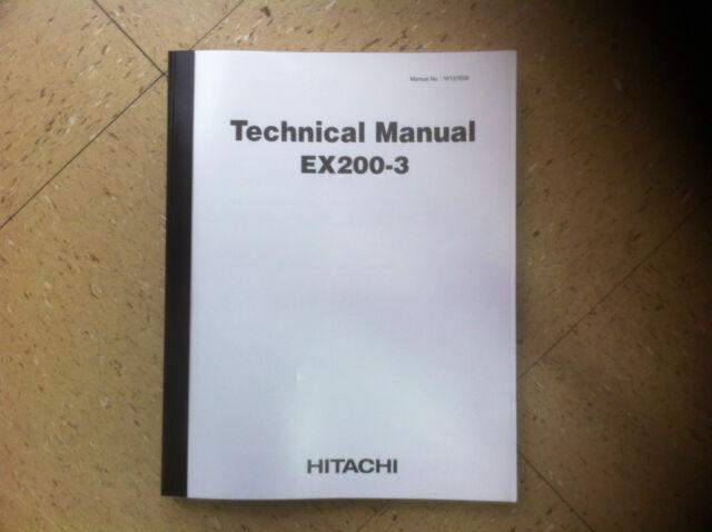 hitachi ex200 3 excavator service technical workshop manual shop rh ebay com