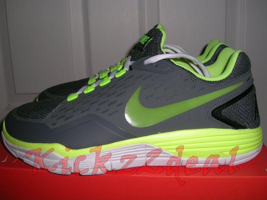 NEW Nike Free Xilla TR Running/Training Shoes sz 11 Grey/White-Volt lunareclipse