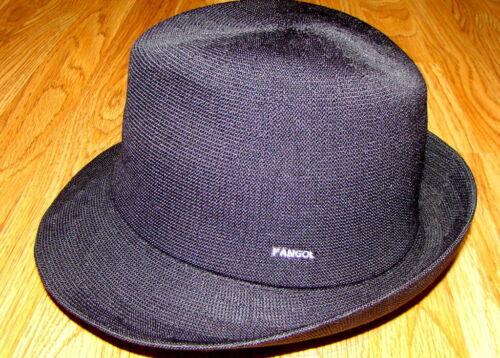KANGOL  Black  Hiro  Trilby  Hat