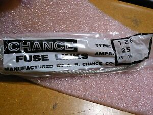 AB CHANCE FUSE LINK PART M25T26 NSN 5920 00 438 4970 TYPE T26 AMPS 25