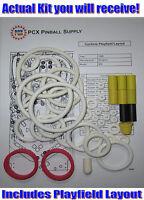 1988 Williams Cyclone Pinball Machine Rubber Ring Kit