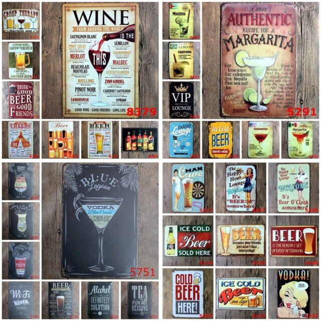 Metal Tin Sign Poster Plaque Bar Pub Cafe Home Plate Man Cave Wall Deco #3