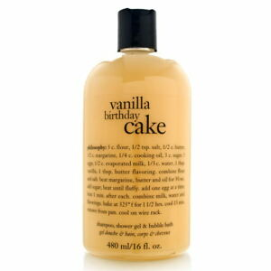 Philosophy Vanilla Birthday Cake 160 Oz Shampoo Shower Gel Bubble